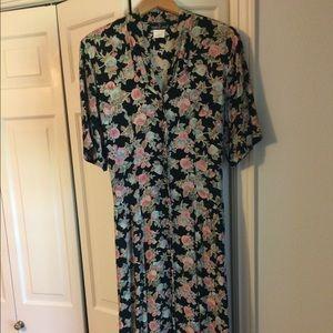 Vintage Carole Little Floral Print Dress
